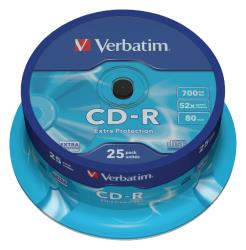 Verbatim 43432 CD-R Extra Protection 700 MB spindle 25 stuks