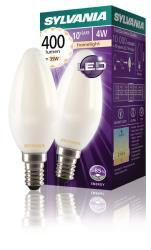 Sylvania 0027287 Retro Filament LED lamp Candle 4W Satin 400Lm E14