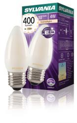 Sylvania 0027289 Retro Filament LED lamp Candle 4W Satin 400Lm E27