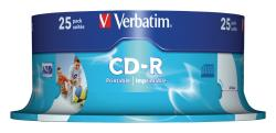Verbatim 43439 CD-R AZO Wide Inkjet Printable 700 MB Spindle 25 stuks