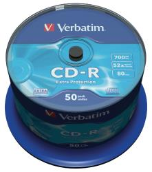 Verbatim 43351 CD-R Extra Protection 700 MB spindle 50 stuks