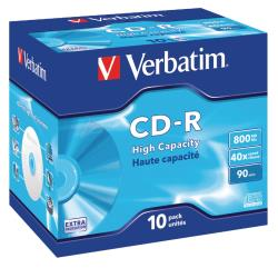 Verbatim 43428 CD-R High Capacity 800 MB Jewel Case 10 stuks