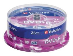 Verbatim 43500 DVD+R Matt Silver 4.7 GB 16x spindle 25 stuks