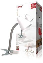 Ranex 6000.631 Desk cliplamp MANOU EX BULB GREY