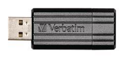 Verbatim 49062 USB2.0 Stick 8 GB PinStripe zwart