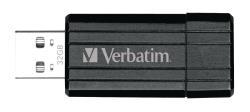Verbatim 49064 USB2.0 Stick 32 GB PinStripe zwart