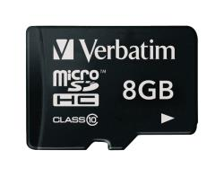 Verbatim 44012 MicroSDHC-kaart 8 GB Class 10