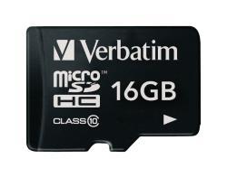 Verbatim 44010 MicroSDHC-kaart 16 GB Class 10