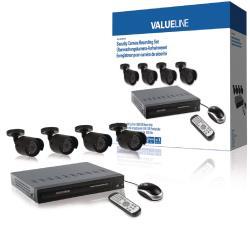 Valueline SVL-SETDVR40 Beveiligingscamera-opnameset uitgerust met een ingebouwde 500 GB harde schijf