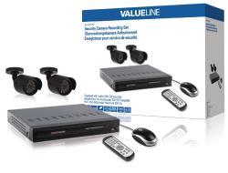 Valueline SVL-SETDVR30 Beveiligingscamera-opnameset uitgerust met een ingebouwde 500 GB harde schijf