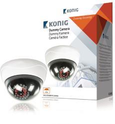 König SAS-DUMMYCAM95 Dummy-camera dome voor buiten IR LED