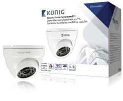 König SAS-CAM1210 Beveiligingscamera dome 700 TVL incl. 18 m kabel wit