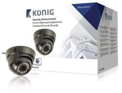 König SAS-CAM2200 Beveiligingsdomecamera met varifocale lens zwart