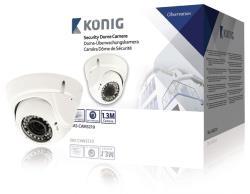 König SAS-CAM3210 Beveiligingsdomecamera met varifocale lens wit