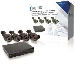 König SAS-SETNVR10 NVR-set met 4 camera's