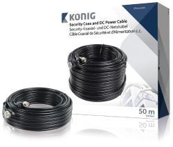 König SAS-CABLE1050B Coax-kabel RG59 voor beveiligingscamera en DC-voeding 50,0 m