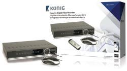König SAS-DVR1008 Digitale videorecorder met ingebouwde harde schijf van 1 TB