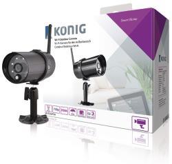 König SAS-CLALIPC20 Wi-Fi outdoor-camera HD IP66 zwart voor SAS-CLALARM systemen