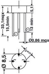 DC Components B1000C1500R Bridge rectifier round