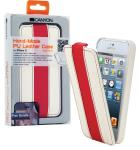 Canyon CNA-I5L01WR iPhone 5 lederen hoes wit / rood