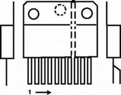 ST-MicroElectronics TDA2030AV-ST 18 W 22 V audio amplifier vert.