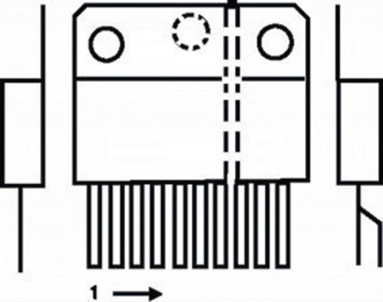 ST-MicroElectronics TDA7294V-ST Power amplifier 100 W / 4E 100 V + mute