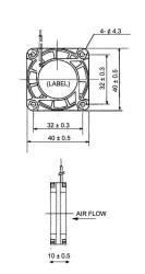 Sunon EB40101S2-0000-999 DC ventilator 40 x 40 x 10 mm