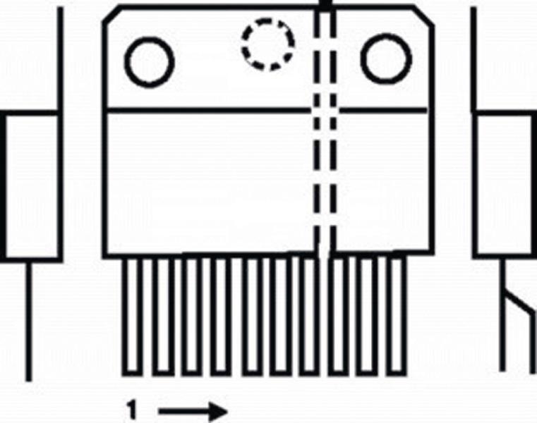 Philips TDA8358J-PHI V-DEFL amplifier 3.2 A + e-w