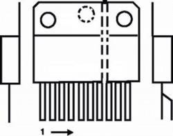TDA8358J-PHI V-DEFL amplifier 3.2 A e-w