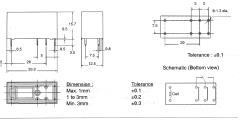 Fixapart REL-124041 Relais enkelpolig 16A 24 V