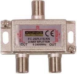 FC-2SPLT-ST-KN 2-weg satelliet F-splitter