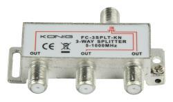 FC-3SPLT-KN 3-weg TV F-splitter