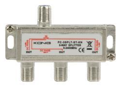 FC-3SPLT-ST-KN 3-weg satelliet F-splitter