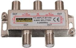 FC-4SPLT-ST-KN 4-weg satelliet F-splitter