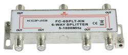 FC-6SPLT-KN 6-weg TV F-splitter