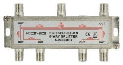 König FC-6SPLT-ST-KN 6-weg satelliet F-splitter