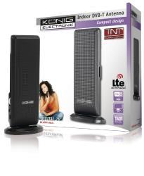 König KN-DVBT-IN52L Design DVB-T binnenantenne met LTE filter zwart