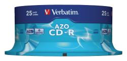 Verbatim 43352 CD-R AZO Crystal 700 MB Spindle 25 stuks