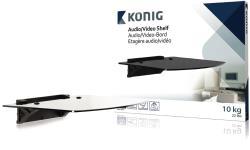 König KNM-AS10 Audio/videoplank getemperd glas - 10 kg / 22 lbs