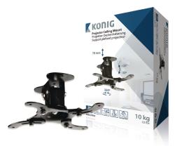 König KNM-PM10 Projectorplafondbeugel 10 kg / 22 lbs zwart