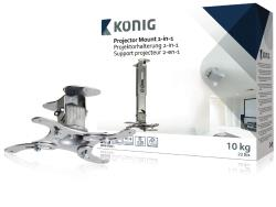 König KNM-PM21 Projectorbeugel 2-in-1 10 kg / 22 lbs zilver