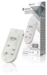 König KN-PROAMP32A Professionele TV-versterker 24 dB 2 uitgangen actief retourkanaal