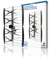 Valueline VLS-UHF10L Platte paneelantenne voor buiten DVB-T & UHF 14 dB