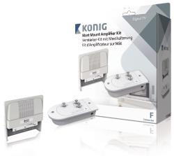 König KN-AMP-KIT10 Versterkerkit voor mastmontage voor UHF- en VHF-antennes