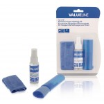 Valueline VLC-CK100 3 in 1 schermreinigings set 35 ml vloeistof + doek + borstel