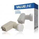 Valueline VLS-LNB-QD10 Universele quad LNB voor 4x TV 0.3 dB