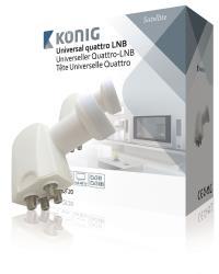 König KN-LNB-QT20 Universele quattro LNB 0.2 dB voor multiswitch