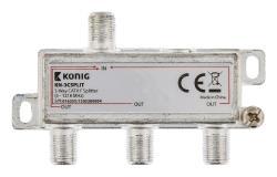 König KN-3CSPLIT 3-wegs CATV F-splitter 5 - 1218 MHz
