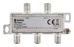 König KN-4CSPLIT 4-wegs CATV F-splitter 5 - 1218 MHz