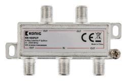 König KN-4SSPLIT 4-wegs F-splitter satelliet 5 - 2400 MHz